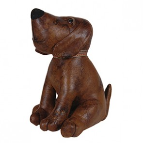 Brown Fabric Dog Door Stop