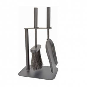 Duo Hearth Tidy Set in Black