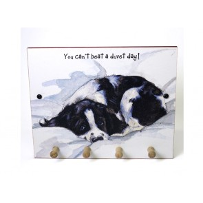 The Little Dog Duvet Day Wooden Plaque