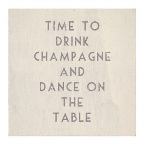 Time to Drink Champagne - Wooden dinnks coaster