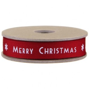 Merry Christmas fabric Ribbon