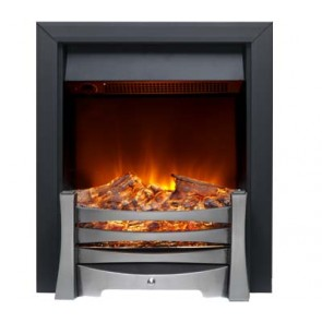 Burley Egleton Electric Fire in Black & Nickel