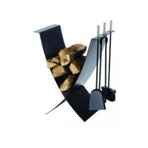 Dixneuf Ekiss Log Holder & Fire Tools
