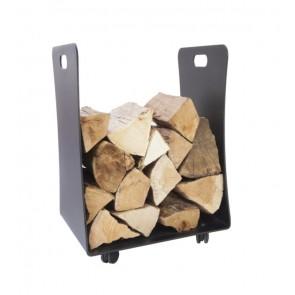 Thorney log store on wheels - Powder coasted metal indoor log store