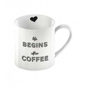 Life begins after coffee mug