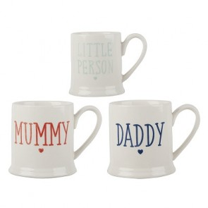 Family Set Of 3 Ceramic Tankard Mugs by Creative Tops
