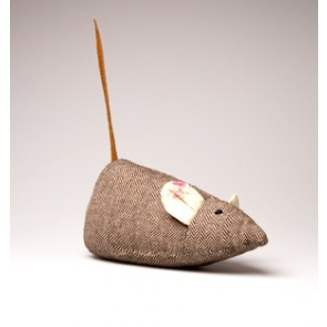 Tweed Mouse Door Stop