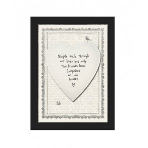 Footprints on Heart Ceramic Heart Picture