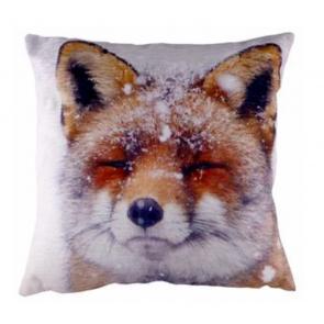 Winter Scene Fox Cushion