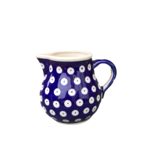 Polish Pottery Small Cream Jug in Frogeye - Boleslawiec Hand Painted