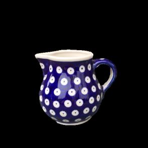 Polish Pottery Small Cream Jug in Frogeye - Boleslawiec Hand Painted