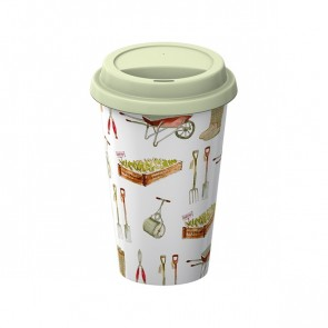 Gardner Fine China Travel Mug with Silicone lid by Creative Tops.