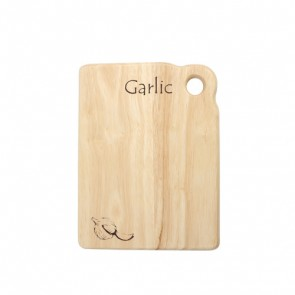 Garlic board in hevea - 200mm x 150mm x 15mm