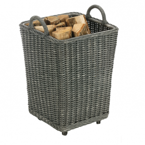 Dixneuf Gipsy Grey Rattan Log Holder