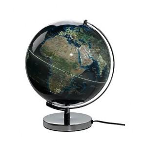 Illuminated city lights globe