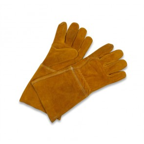 Leather Gauntlet fire Gloves from garden trading