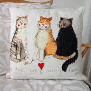 Alex Clark The Good, The Bad & The Furry Cushion
