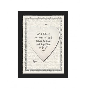 Good Friends - Small Ceramic Heart Picture