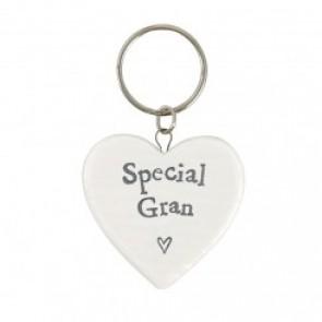 Special Gran - Ceramic Heart Keyring