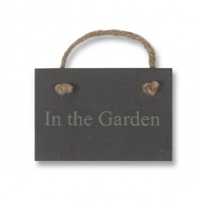 In the Garden - Slate Sign