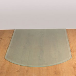 Curved Front Glass Hearth Opaque