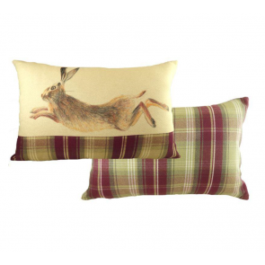Painted Hare Rectangular Cushion