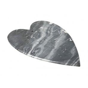 Marble heart shaped food presentation board - for cheese & continental meats