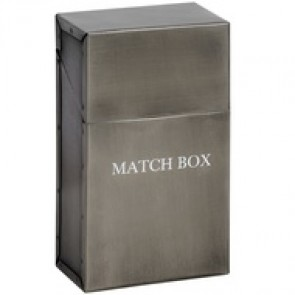 Antique Pewter Match Box