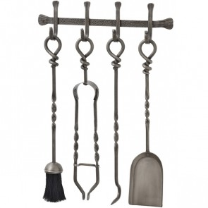 Wall Mountable Iron Fireside Companion Set