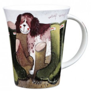His Wellies - Fine Bone China Mug by Alex Clark