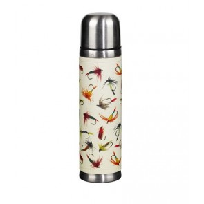 Fly Fishing Drinks Flask in Stainless Steel
