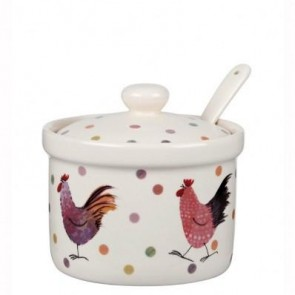 Rooster Preserve Pot with Spoon