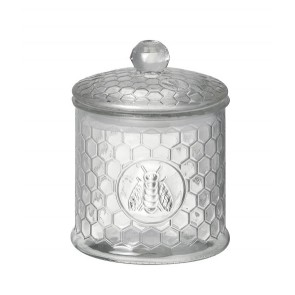 Glass Honeycomb Glass Storage Jar