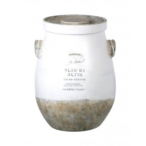 Olio di Olivia - White ceramic Olive Oil Jar by Parlane