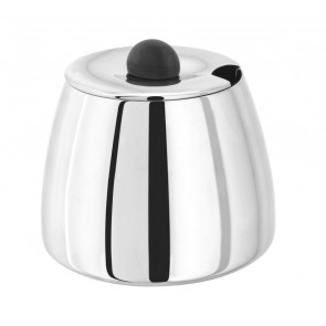 Polished Stainless Steel Sugar Bowl & Lid