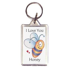I Love You Honey - Bee Keyring