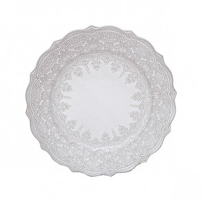 Lace Embossed Terracotta Side Plate with Grey Glaze Finish by Creative Tops