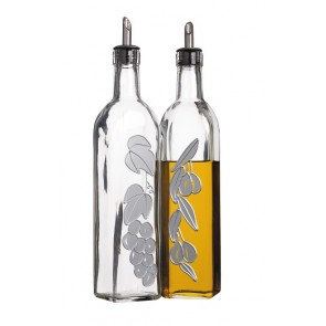 Decorative Oil and Vinegar Glass Bottles