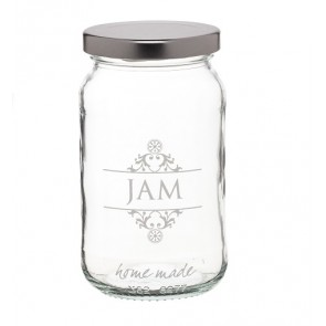 Glass Jam Jar - Made With Love