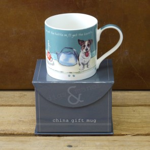 The Little Dog Kettle on mug