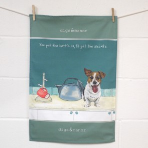 The Little Dog Kettle On Tea Towel
