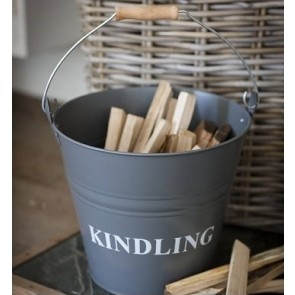 Kindling Bucket in Slate