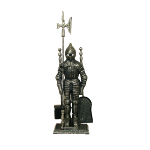 Silver Black Knight in Armour Companion Set