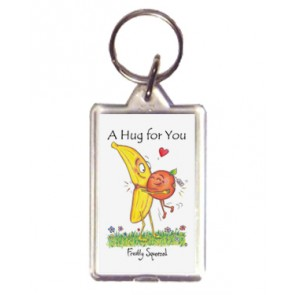 Freshly Squeezed Hug Keyring