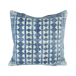Lahar Cushion by Parlane - blue & off white cushion