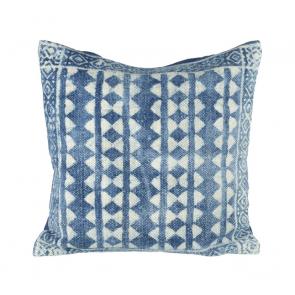 Lahar Cushion by Parlane - blue & off white cushion