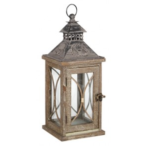 Decorative Wooden Candle Lantern