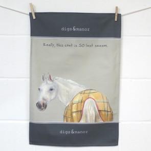 The Little Dog Last Season Tea Towel