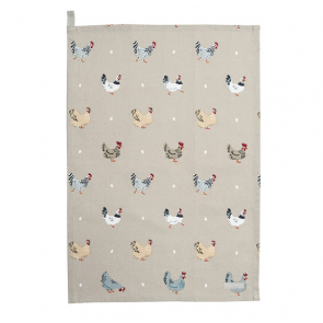 Lay a Little Egg Cotton Tea Towel by Sophie Allport