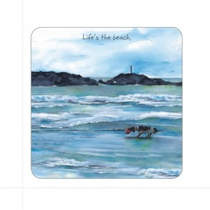 The Little Dog - Life's The Beach Coaster